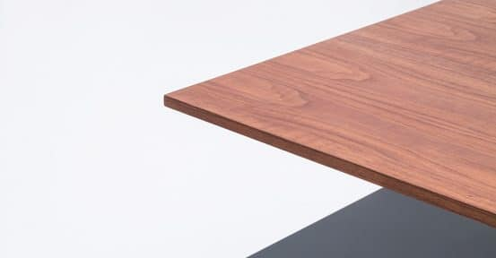 Walnut Desk Top Closeup