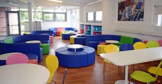 School blue furniture
