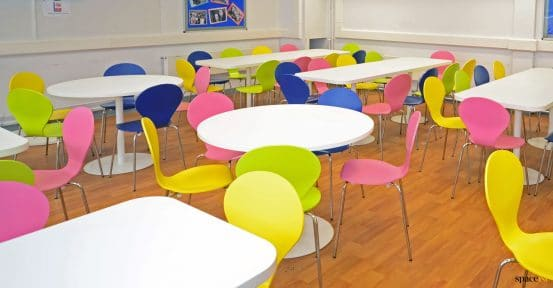 Round school tables