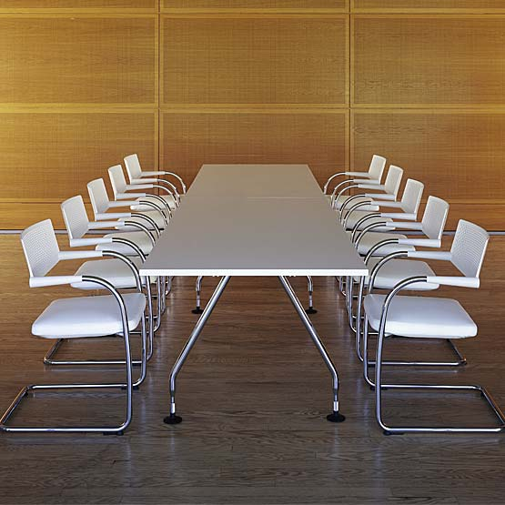 What are the different types of meeting room tables?