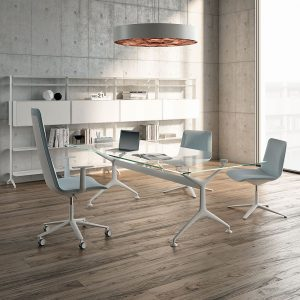What design options are available for modern desks?