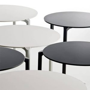 What different shapes and styles are cafe table tops available in?