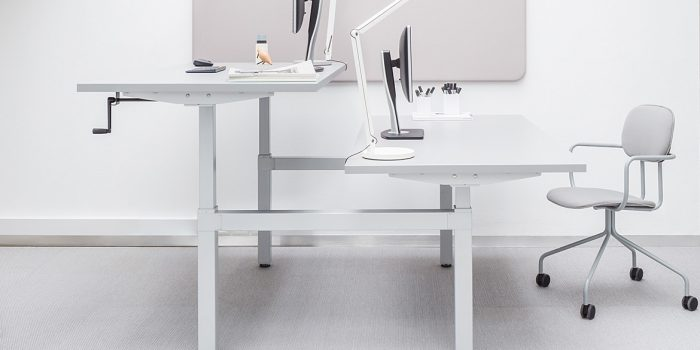 White 2 Person Desk