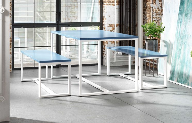 White Canteen Table