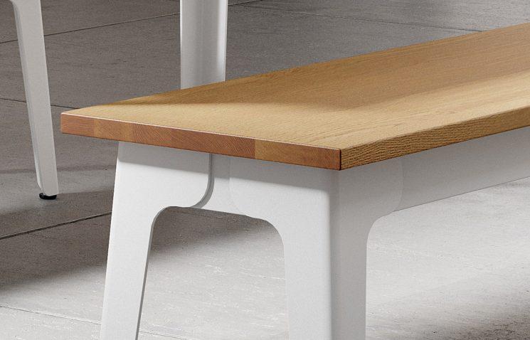 Oak Bench Closeup