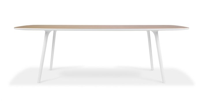 White + Oak Meeting Table
