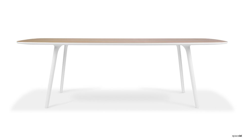 White + Oak Meeting Table