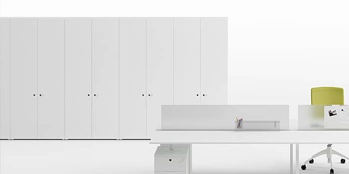 White Office Cabinets