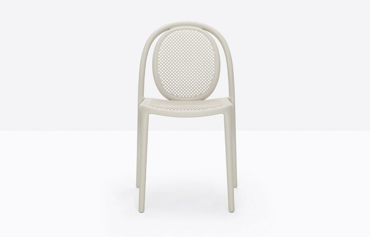 White Stacking Cafe Chair
