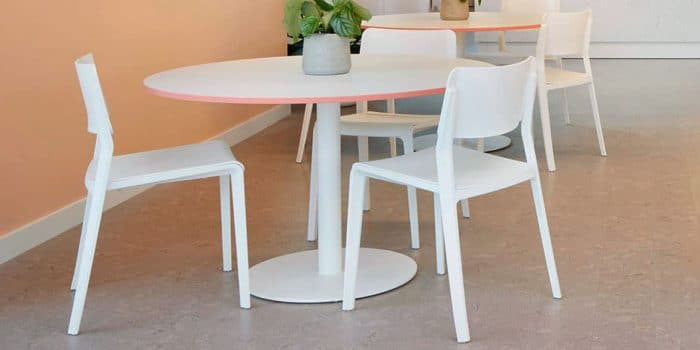 White cafe chairs