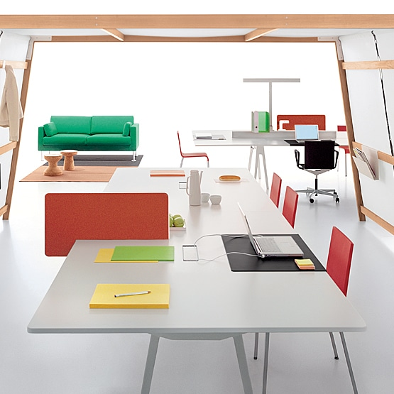 Why should I buy a white bench desk or long desks for my team?