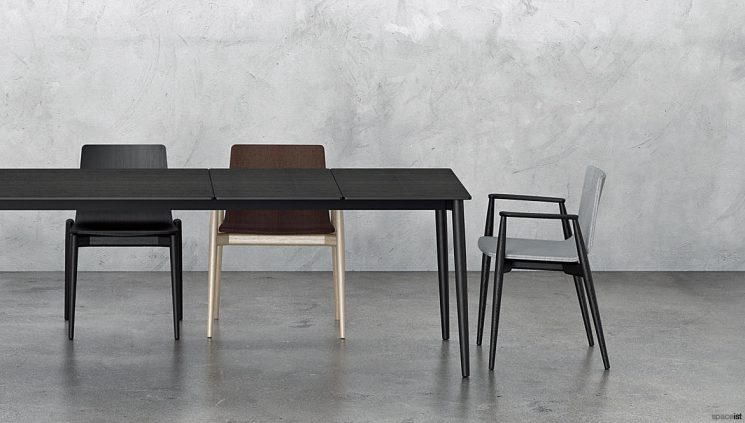 Black Meeting Chair made from Solid Wood