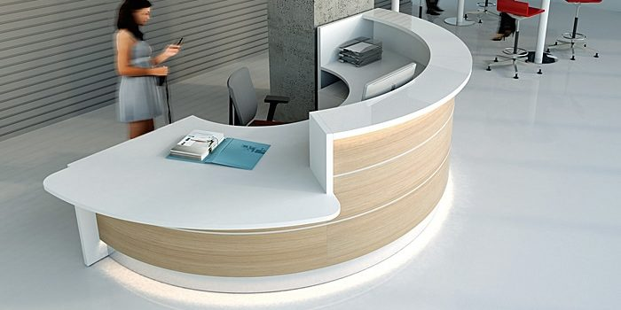 Wood Reception Desks