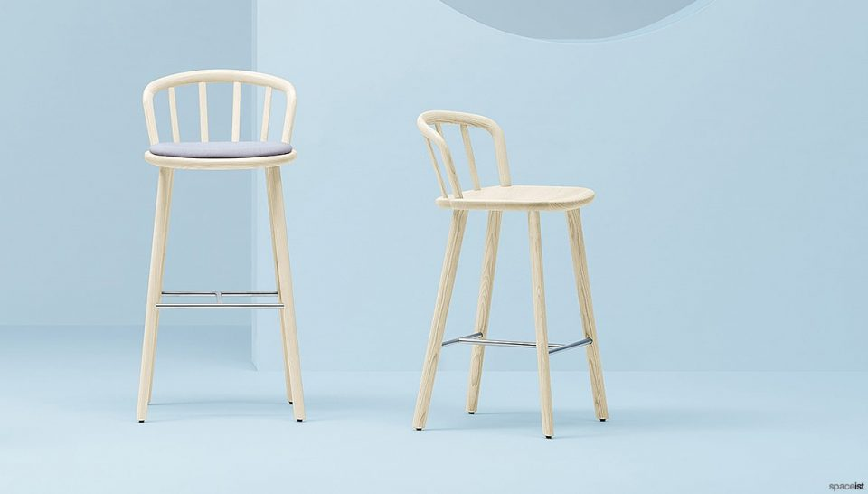 Ash Wood Bar Stool