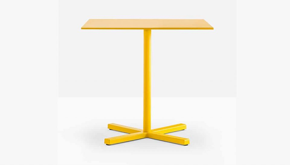 Yellow Square Cafe Table
