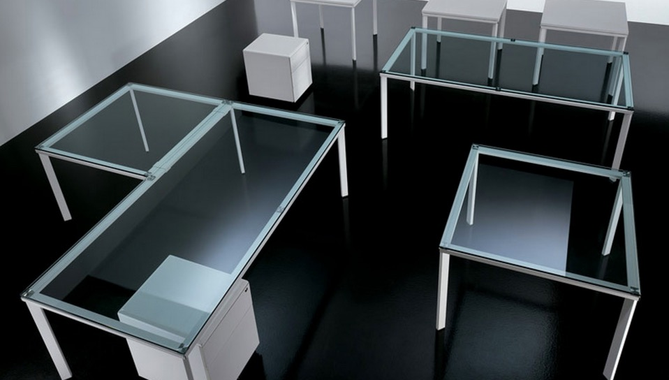 be glass desk spaceist