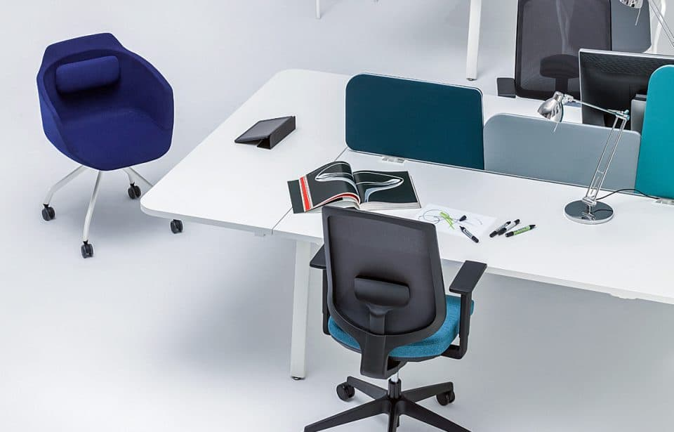 Bench desk with chair