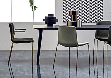 Black meeting table