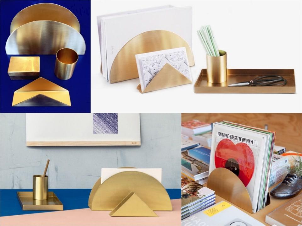 brass-deskset desk accessories