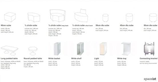 cube sizes shapes 3