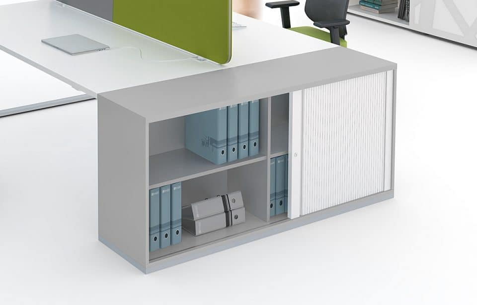 Desk with end storage