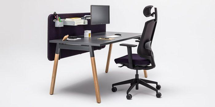 Desk with oak legs