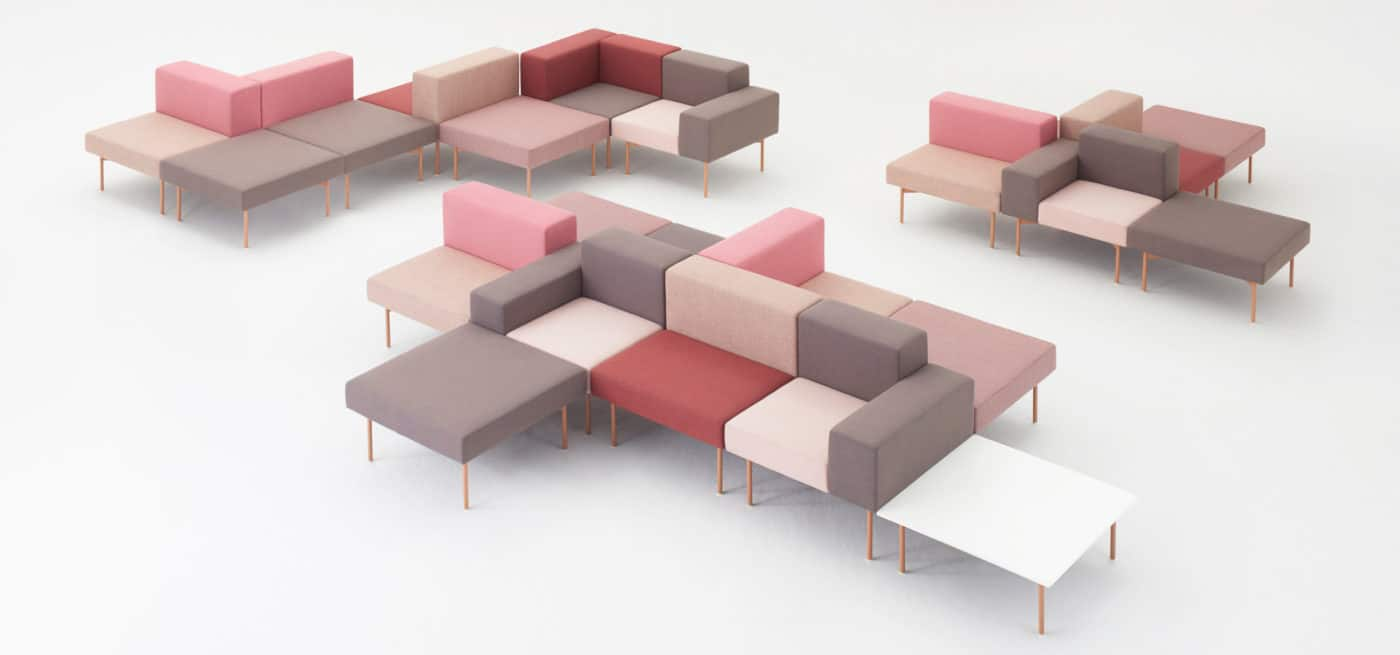 spaceist 102 collection -modular sofa pink