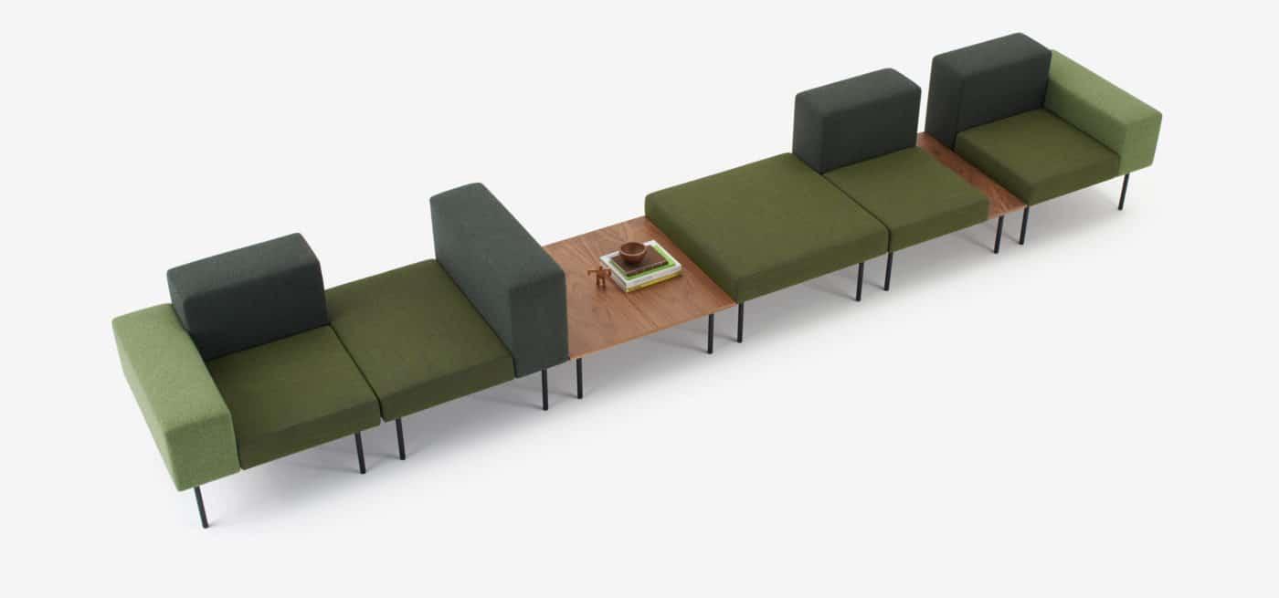 spaceist 102 modular sofa- green