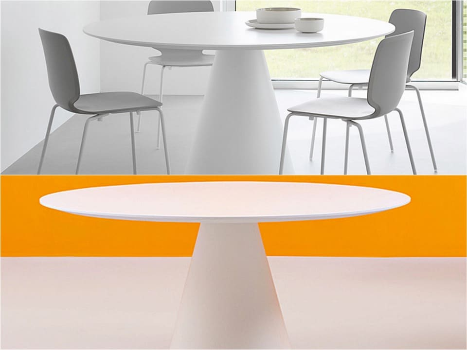 icon spaceist round meeting table