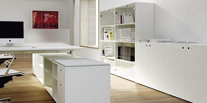 Locking office cabinets