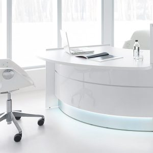 Reception desk with low table