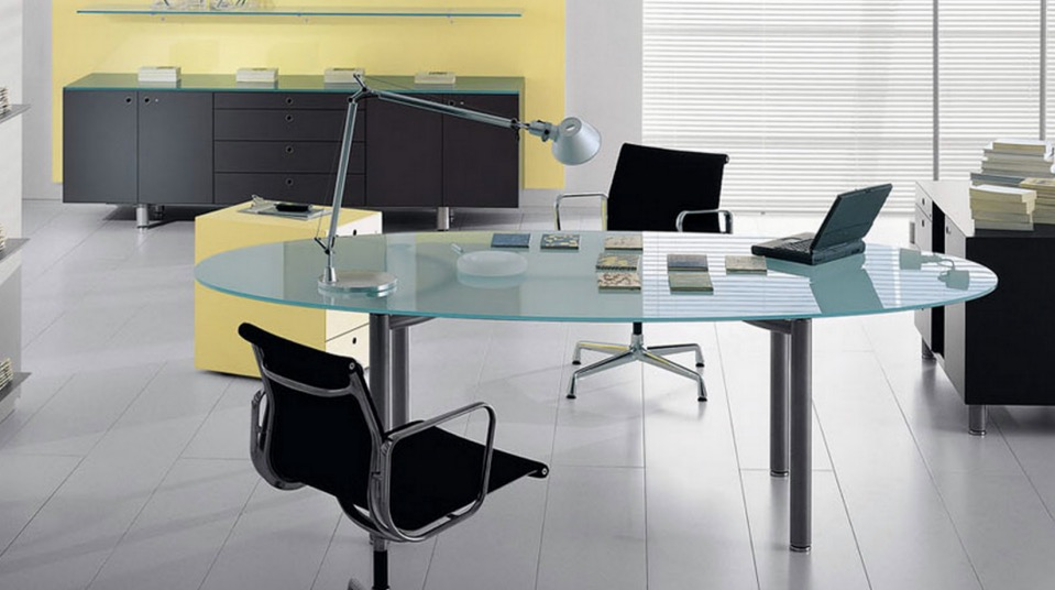 meta oval desk spaceist