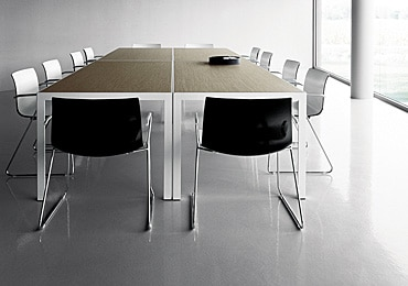 Plastic meeting chairs