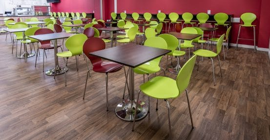 Prince Henry School wood cafe tables