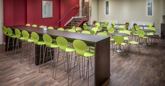 Prince Henry School green Ondo bar stool