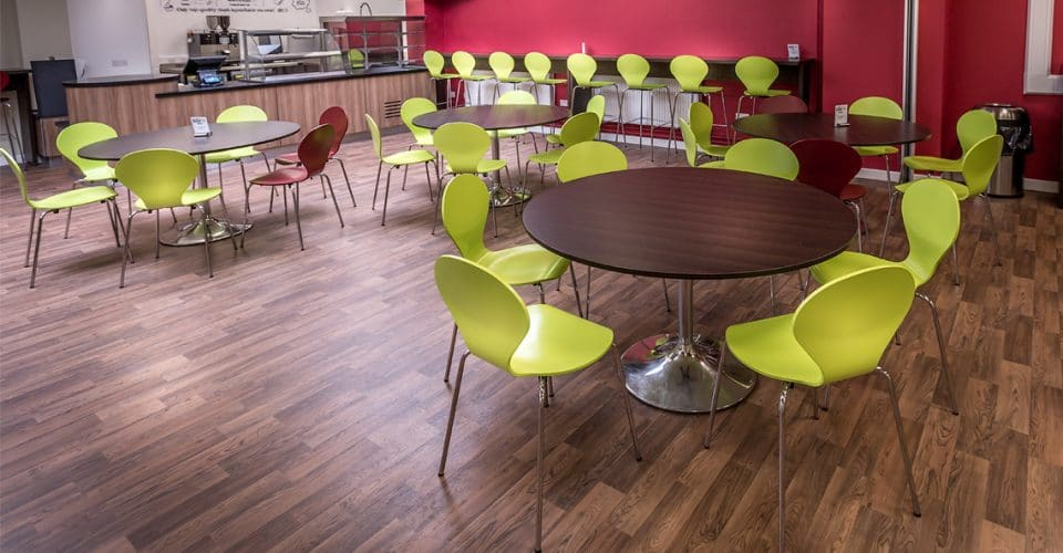 Prince Henry School large canteen tables
