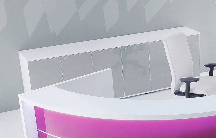 Reception desk with storage