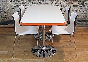 Rectangular cafe tables