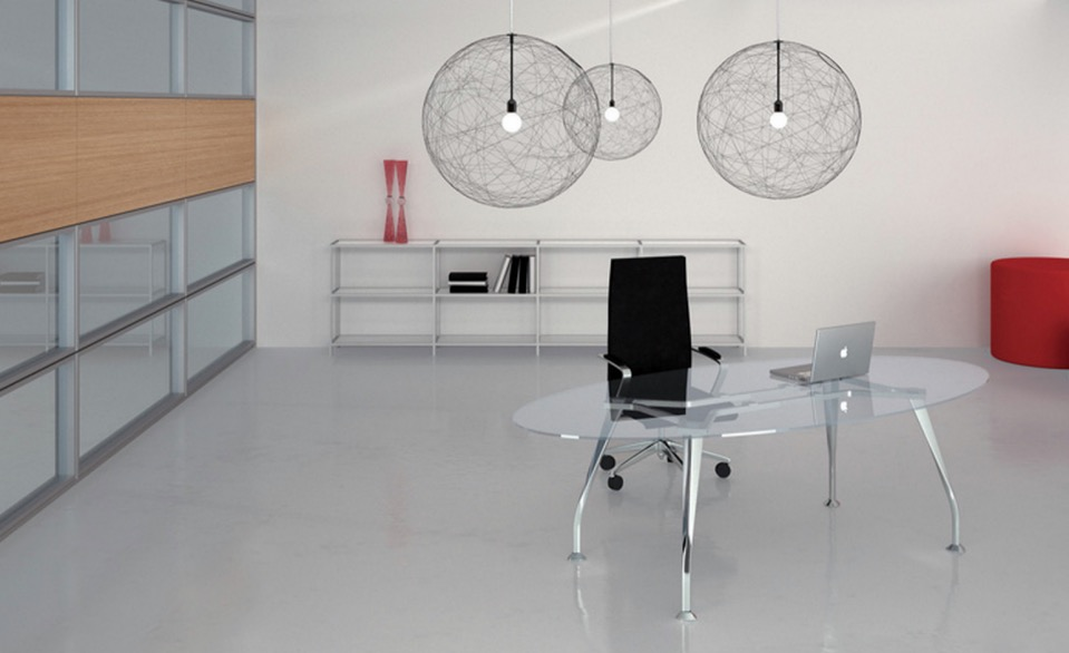 segno glass desk spaceist