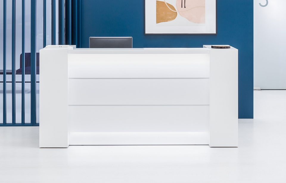 Small white clinic desk
