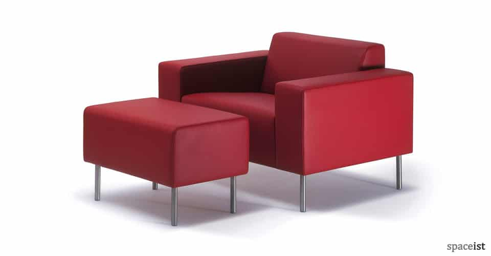 spaceist 18 red leather reception chairs6