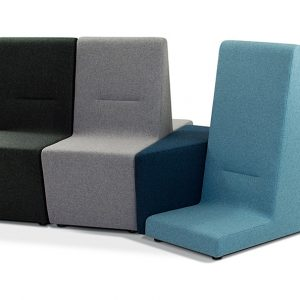 221 high and low reception sofa