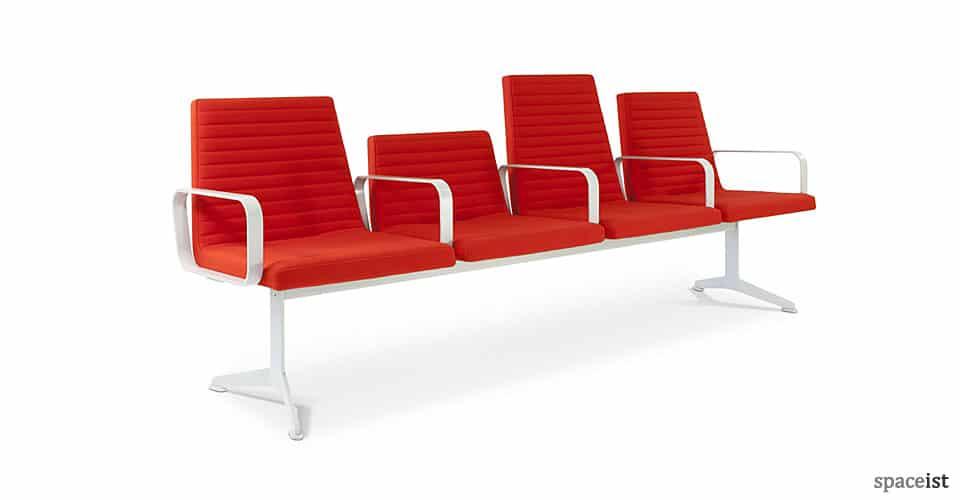 spaceist 312 modern reception bench red9