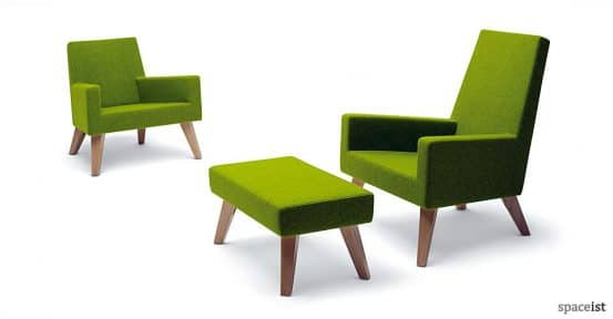 44 green fabric office reception chairs