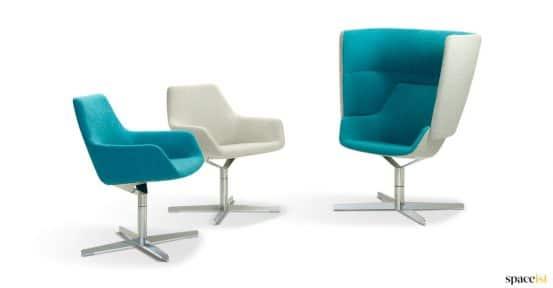 Blue lobby chair