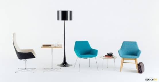 Blue reception chair