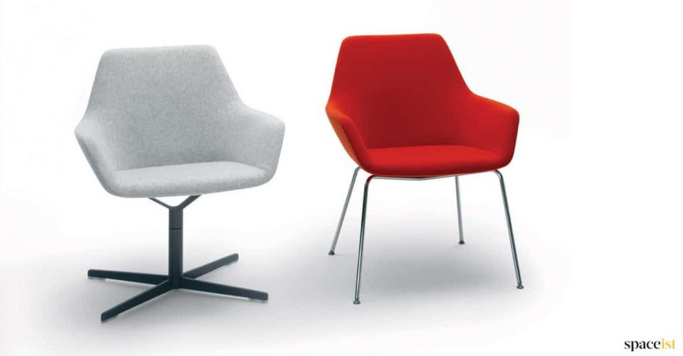 Red and grey reception chair