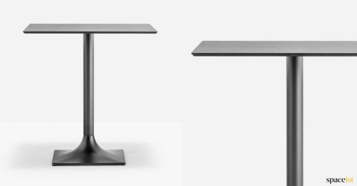 Dream black cafe table with a black top