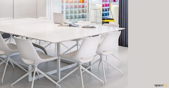 White swivel meeting chair