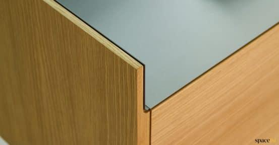 Oak cabinet closeup